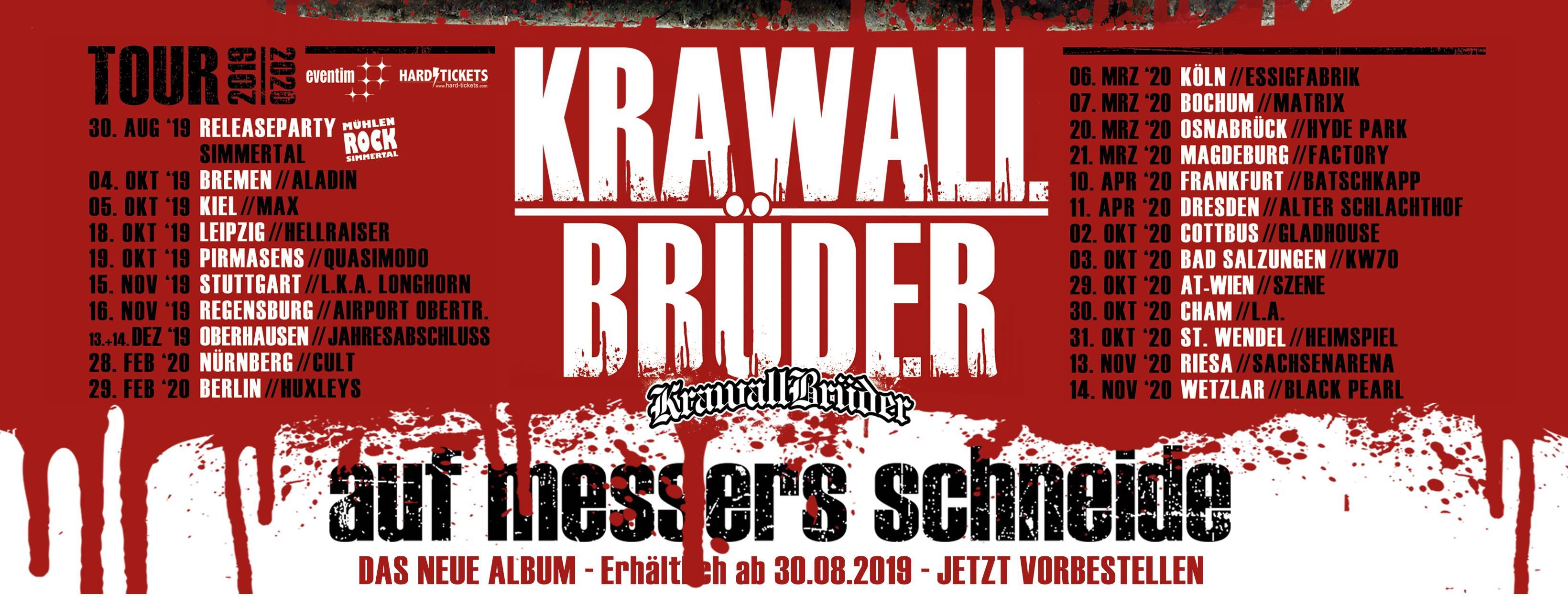 Album Cover Krawallbrüder-Auf Messers Schneide
