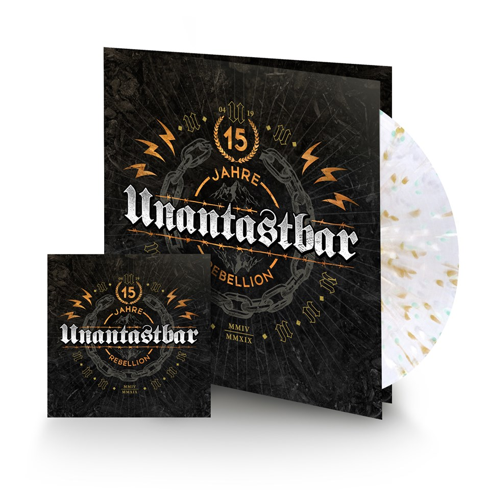 Unantastbar - 15 Jahre Rebellion Album Cover der Vinyl